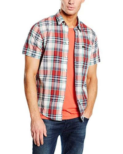 Lee Camiseta Manga Corta Button Down Ss Lava Red