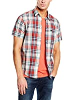 Lee Camiseta Manga Corta Button Down Ss Lava Red (Rojo)