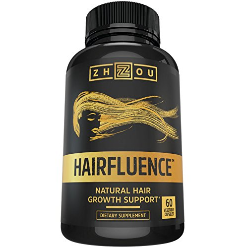 Hairfluence All Natural Hair Growth Formula For Longer, Stronger, Healthier Hair - Scientifically Formulated with Biotin, Keratin, Bamboo & More!...