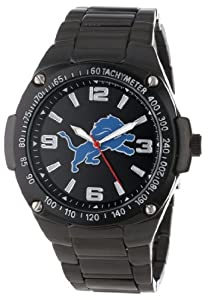 Game Time Unisex NFL-WAR-DET Warrior Detroit Lions Analog 3-Hand Watch by Game Time