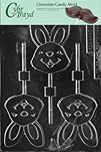 Cybrtrayd E147 Happy Bunny Lolly Easter Chocolate/Candy Mold