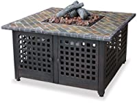 Blue Rhino GAD860SP LP Gas Outdoor Firebowl with Slate/Marble Mantel by Uniflame