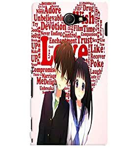 Fuson Love Couple Back Case Cover for SONY XPERIA M2 - D3826