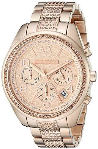 Armani Exchange AX5517 40mm Gold Plated Stainless Steel Case Rose Gold Gold Plated Stainless Steel Mineral Women's Watch