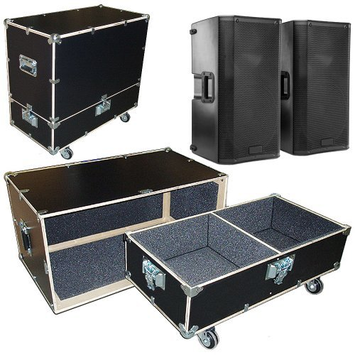 "Speakers Monitors Road Case Kit Fits 2 Jbl Prx-612M Speakers - 2 Compartments 15""X15""X24"" High"