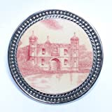 Broken China Jewelry – Johnson Brothers Castle – Sterling Silver Pin Brooch
