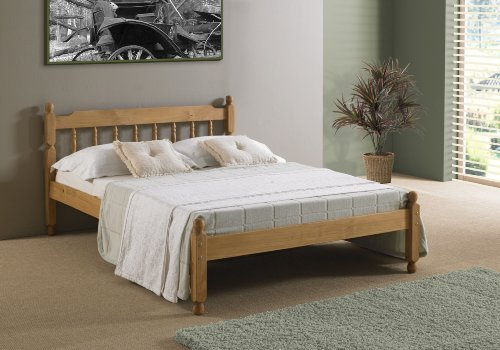COLONIAL PINE WOOD SINGLE BEDSTEAD