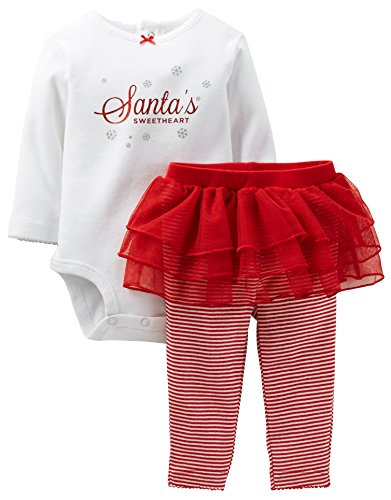Carter'S Baby Girls' Christmas 2 Piece Tutu Set (Baby) - Red - 18 Months