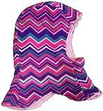 N'Ice Caps Kids Unisex Sherpa Lined Micro Fleece Balaclava Crusader (2-4yrs, purple/fuchsia/turq/pink)