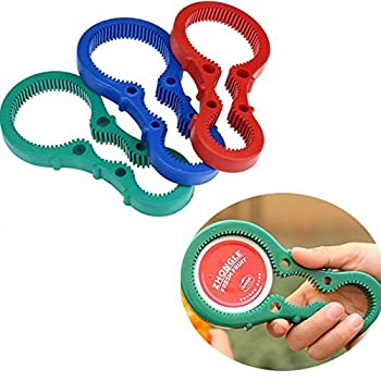 Jars Bottle Can Tin Opener Rubber Multiple Size Handy Twist Container Tool Get Lids Off Easily Red / Blue / Green Color