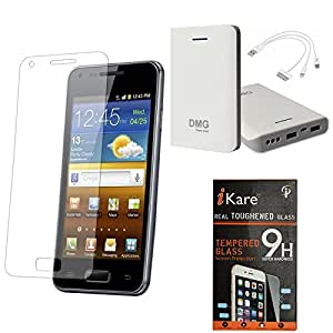 iKare Pack of 8 Tempered Glass for HTC One E8 + iKare 30000 mAh Portable Power Bank