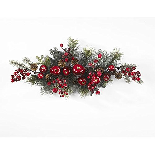 Create A Vibrant Splash In Your Home Or Office Decor With This Apple Berry 30-inch Swag