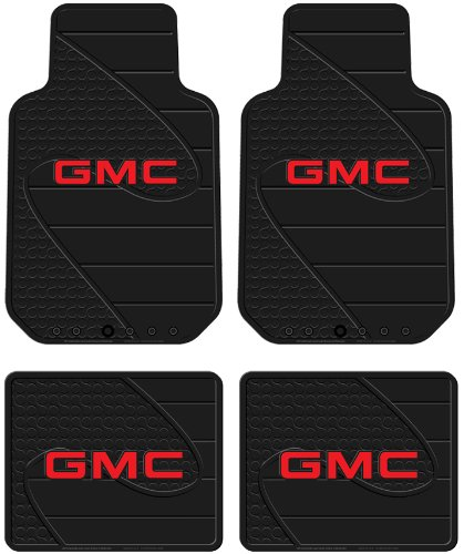 Front Rear Seat Car Truck Suv Rubber Floor Mats Gmc Logo