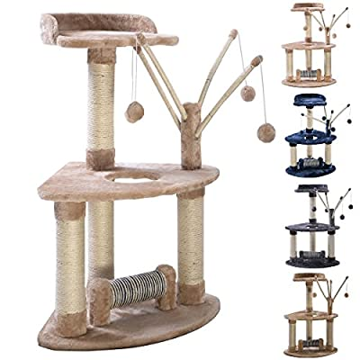 FDS Cat Tree Tower Condo Furniture Scratch Post Scratching Pole Kitty Swinging Play Balls