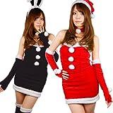 Xmas衣装 聖なるバニー☆バニーサンタセット (大きいサイズ5L・レッド)