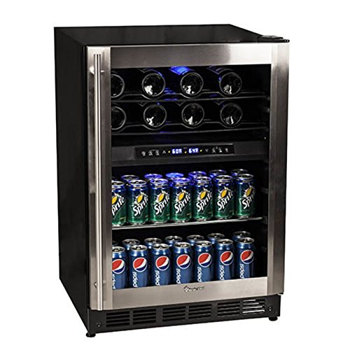 Magic Chef 44 Bottle Stainless Dual Zone Wine & Beverage Cooler MCWBC77DZC (Magic Chef Wine Refrigerator compare prices)