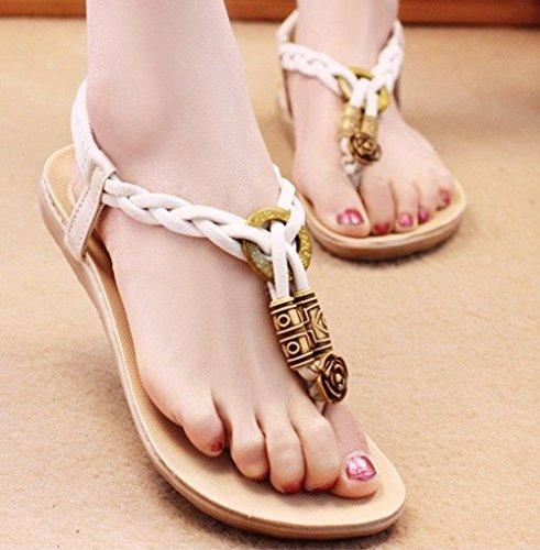 White New Sandal Flip Flops Flat Sandals Rushed Shoes Women (9) front-940995