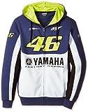 ヤマハ(YAMAHA) VR46 バレンティーノ ロッシ ジップ付きフリースパーカー 46BIG&ヤマハロゴ ブルー XLサイズ Q5D-YSK-208-00X