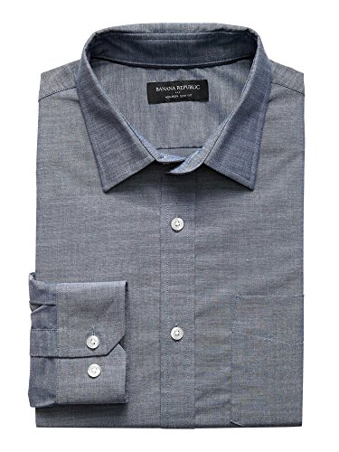 banana-republic-mens-slim-fit-non-iron-button-down-shirt-chambray-grey-x-large