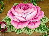 ☆やっぱりバラが好き♪☆豪華♪61x76cm【1輪の大きな薔薇】ラグマット・玄関マットPA