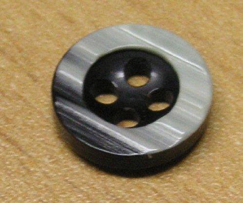 Hemden Blusen Knopf 14 mm schwarz grau