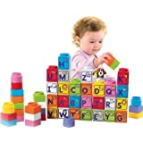 Fisher-Price Little People Builders Stack N Learn Alphabet Blocks Children, Kids, Game