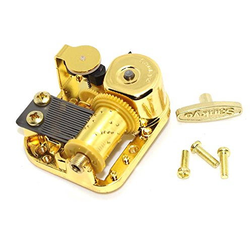 Gold Plated Windup Clockwork DIY Music Box Musical Mechanism Movement (Grandfather's Clock)