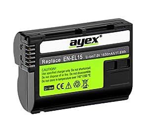 Ayex EN-EL15 Li-Ion accu pour Nikon