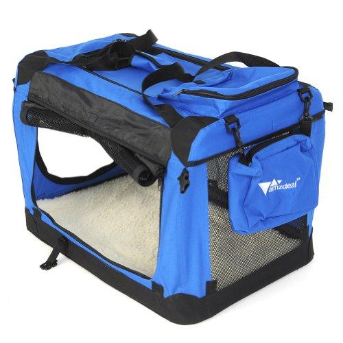 Hundetransportbox-Hundebox-Hunde-Katzen-Transportbox-70cm-x-52cm-x-52cm-Faltbar-Blau
