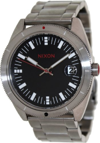 Nixon A359008 Rover Ss Ll Black/Red Black Dial Metal Bracelet Men Watch New