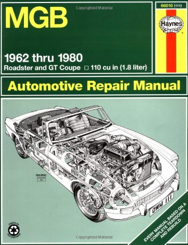 Mgb Automotive Repair Manual: 1962-1980 Mgb Roadster And Gt Coupe With 1798 Cc (110 Cu In Engine) (Haynes Manuals)
