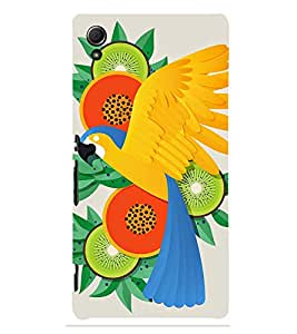 Parrot In Animation 3D Hard Polycarbonate Designer Back Case Cover for Sony Xperia Z3+ :: Sony Xperia Z3 Plus :: Sony Xperia Z3+ dual :: Sony Xperia Z3 Plus E6533 E6553 :: Sony Xperia Z4