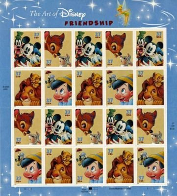 Disney Friendship 20 x 37 Cent U.S. Postage Stamps