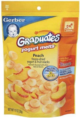 Gerber Graduates Yogurt Melts, Peach, 1-Ounce Pouches (Pack of 8)