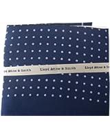 Blue/Lilac Polka Dot Pure Silk Pocket Square