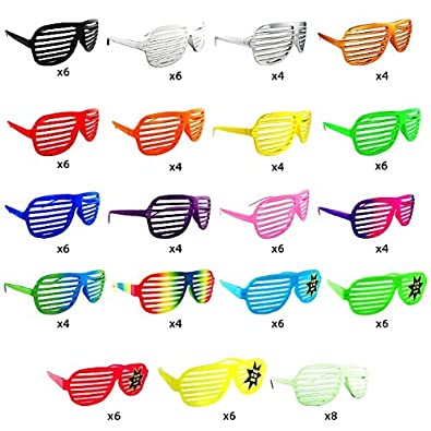 NEW KANYE SHUTTER SHADES HIP HOP SUNGLASSES MULTIPLE COLORS (100 Piece Set)