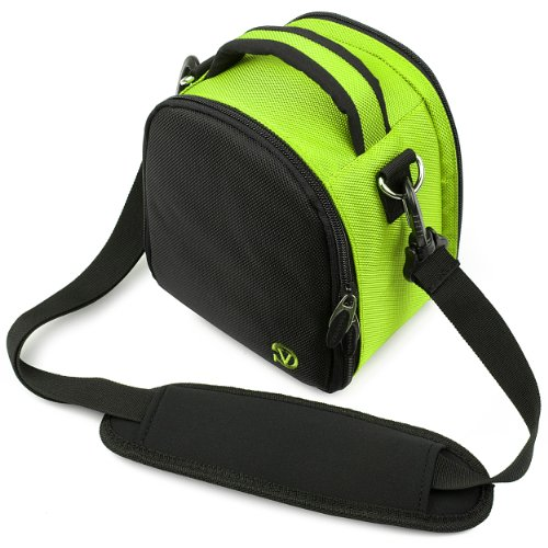 Vg Neon Green Laurel Dslr Camera Carrying Bag With Removable Shoulder Strap For Nikon D3200 Digital Slr Camera