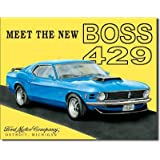 Ford Mustang Meet the New Boss 429 Car Retro Vintage Tin Sign - 13x16 , 16x13