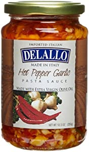 Delallo Imported Garlic Oil Hot Pepper Sauce 123-ounce Jars Pack Of 6 from DeLallo
