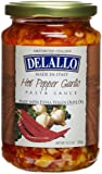 DeLallo Imported Garlic, Oil, & Hot Pepper Sauce, 12.3-Ounce Jars (Pack of 6)