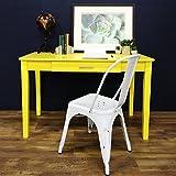 WE Furniture Wood Storage Computer Desk, Yellow