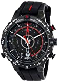 Timex Intelligent Quartz Men's Tide Temp Compass Watch with Black Dial Analogue Display and Black Silicone - T2N720