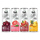 Bai Bubbles Voyager Variety Pack, Antioxidant Infused Sparkling Water Drink, 11.5 Fluid Ounce Can, 12 count, 3 each of Bolivia Black Cherry, Gimbi Pink Grapefruit, Peru Pineapple, Jamaica Blood Orange