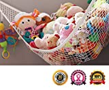 ★ SALE ★ MiniOwls Multipurpose Storage Chain - High Quality White 6ft Organizer for Home or Store Display, Fits any Décor in Kid's Bedroom, Nursery, Playroom, Mudroom, Basement - Nice & Easy way to Exhibit Toys, Plush Animals, Art, and Collectibles; Caps, Hats, Bags or other Accessories - Neat Closet and Pantry Organizer, Storage Bin or Box Alternative, or a Simple Drying Rack - Easy to Install, Comes with 20 Plastic Removable & Adjustable Clips - Can be Hung From Ceiling, Closet, Window, Wall - Free Lifetime Quality Guarantee - 3% From Every Purchase is Donated to Autism Society. MiniOwls Storage Hammock - XLarge Toy Organizer - High Quality De-cluttering Solution & Inexpensive Idea for Every Room at Home or Facility - 3% from This Purchase is Donated to Cancer Foundation