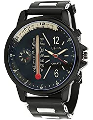 Bailin Black Dial Analogue Watch With Compass & Thermometer Look For Men (TCW0813)