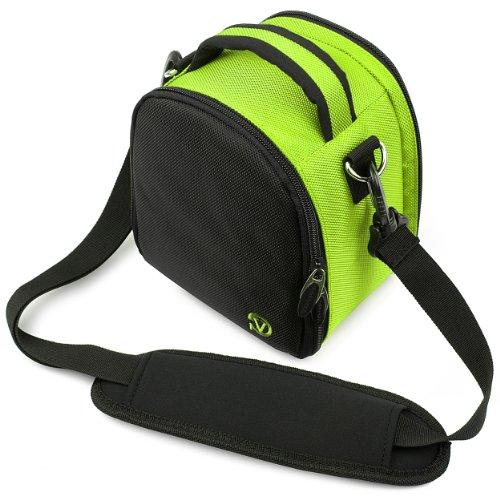 Laurel Compact Edition Lime Green Nylon DSLR Camera Handbag Carrying Case with Removable Shoulder Strap for Pentax K-r 12.4 MP Digital SLR Camera / Pentax K-x 12.4 MP Digital SLR