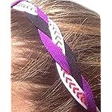 It S Ridic No Slip Grip Non-Slip Sports Athletic Nylon Triple Braided Sports Headband Black | Purple | White With...