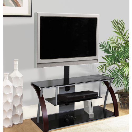 Home Source Industries TV11259 Modern TV Stand with Mount and Shelving for Components, Black/Metal picture B004Y3GVLG.jpg