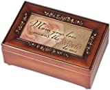 Mom Your Love Woodgrain Rose Mother Gift Music Jewelry Box-Plays Wind Beneath My Wings