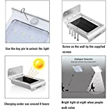 Solar Lights,URPOWER® 16 LED Outdoor Solar Motion Sensor Lights ,Solar Powered Wireless Waterproof Exterior Security Wall Light for Patio,Deck,Yard,Garden,Path,Home,Driveway,Stairs,NO DIM MODE(4Pack)